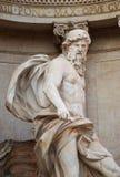 Oceanus, fontana di Trevi, Roma, Italia immagini stock