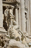 Oceanus god and triton from Trevi Fountain in Rome Royalty Free Stock Photo