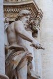 Oceanus, Trevi Fountain, Rome, Italy. A close-up of Oceanus, in the Trevi Fountain, Rome, Italy Stock Photos