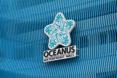 Oceanus Waterfront Mall Sign in Malaysia Royalty Free Stock Image