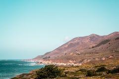 Oceanview от побережья Калифорнии, Соединенных Штатов стоковые изображения rf