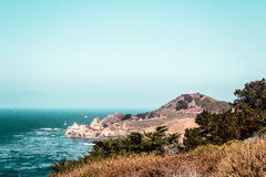 Oceanview от побережья Калифорнии, Соединенных Штатов стоковые изображения