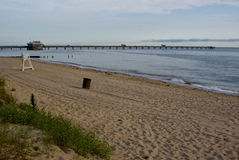 Oceanview Beach. Beach and pier in Oceanview in Norfolk, VA Royalty Free Stock Images