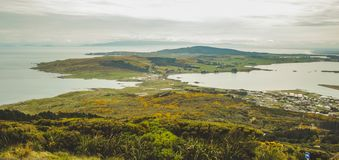 Oceanview from Bluff Hill Lookout, Southernmost point in New Zealand royalty free stock image