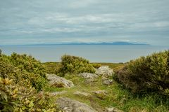 Oceanview from Bluff Hill Lookout, Southernmost point in New Zealand royalty free stock images