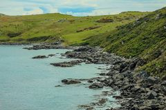 Oceanview from Bluff Hill Lookout, Southernmost point in New Zealand stock image