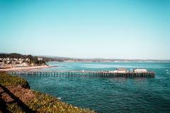Oceanview dalla costa di California, Stati Uniti fotografie stock libere da diritti