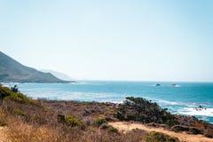 Oceanview dalla costa di California, Stati Uniti Immagini Stock Libere da Diritti