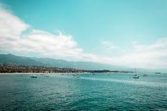 Oceanview från den Kalifornien kusten, Förenta staterna arkivfoto