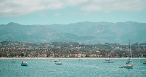 Oceanview från den Kalifornien kusten, Förenta staterna royaltyfri bild