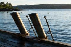 Oceanview in Noorwegen Stock Foto's