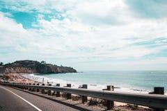 Oceanview od Kalifornia wybrzeża, Stany Zjednoczone zdjęcia stock