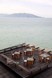 Oceanview restaurant. Stock Image