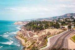 Oceanview von Kalifornien-Küste, Vereinigte Staaten stockbild