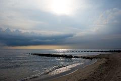 Oceanviewstrand Royalty-vrije Stock Foto
