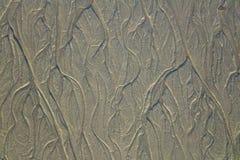Oceany Tworzący wzory w piasku fotografia royalty free