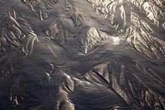 Oceany Tworzący wzory w piasku zdjęcie stock