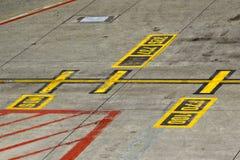 Ocechowanie na taxiway Fotografia Stock
