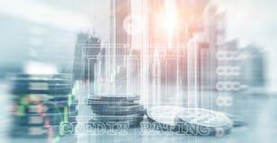 OCENA ZDOLNOŚCI KREDYTOWYCH Finanse, kapitałowa bankowość i inwestorski pojęcie, fotografia stock