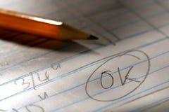 - oceny ciągnącego ołówek Obrazy Stock