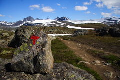 oceny Norway ślad Fotografia Stock