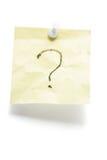 oceny nutowego papieru poczta pytanie Obrazy Stock