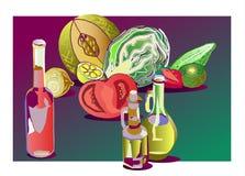 ocet oleju ilustracja wektor