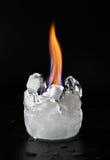 Is och avfyrar royaltyfri foto