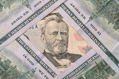 50 och 100 dollar för USA $ Arkivbilder