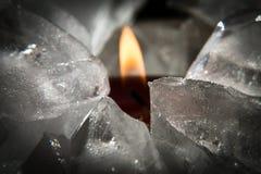 Is och flammar arkivbilder