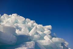 Is och himmel. Royaltyfri Foto