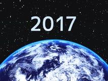 2017 och jorden Arkivfoto