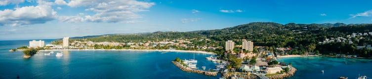 Ocho Rios Jamaica Bay Panoramic Royalty Free Stock Photography
