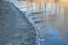 Is och sand Arkivbilder