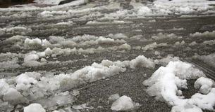 Is och snöväg royaltyfri fotografi
