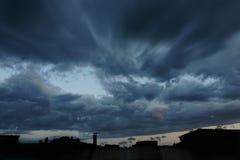 Och stormen är kommande Arkivfoto