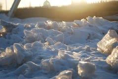 Is och sun fotografering för bildbyråer
