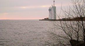 Ochacov Zimy Czarny morze Budynek loci usługa Zatoka Dnipro pluskwy ujście zdjęcia stock
