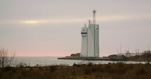 Ochacov Zimy Czarny morze Budynek loci usługa Zatoka Dnipro pluskwy ujście zdjęcia royalty free