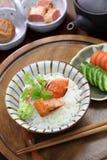 Ochazuke, green tea over rice, japanese food stock photography