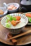 Ochazuke, green tea over rice, japanese food royalty free stock images