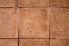 Ocher каменная стена плитки стоковое изображение rf