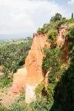 Ocher карьер, Руссильон, Провансаль, Франция Стоковые Фото