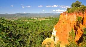 ocher Провансаль quarries roussillon стоковое фото