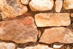 Ocher часть стены Руссильон, Франция стоковая фотография rf