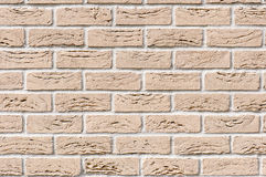 Ocher brick wall for background Royalty Free Stock Photography