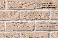 Ocher brick wall for background Royalty Free Stock Images
