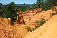 Ocher  Canyon Stock Photos