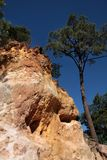 Ocher cliffs of Roussillon Royalty Free Stock Images