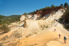 Ocher Earth In Roussillon Stock Photo